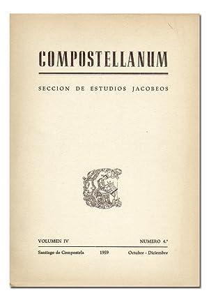COMPOSTELLANUM. Sección de Estudios Jacobeos. Revista Trimestral de la Archidiócesis ...
