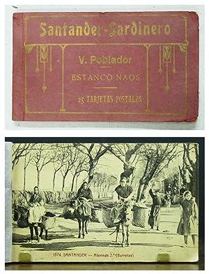 SANTANDER - SARDINERO. 25 tarjetas postales. Con fotografías de Visitación Poblador. ...