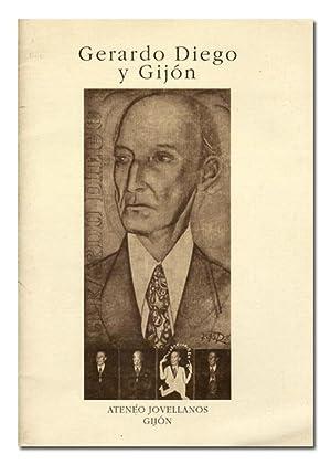 Gerardo Diego en Gijón. Separata en la: RIVAS ANDRÉS (Victoriano).