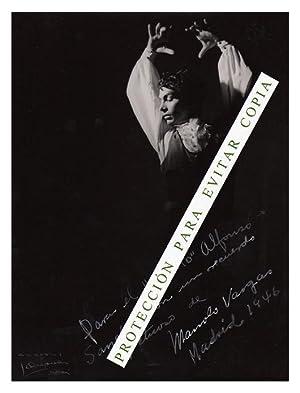 FOTOGRAFÍA de Manolo Vargas, famoso cantaor y bailaor gaditano por el Estudio fotográ...