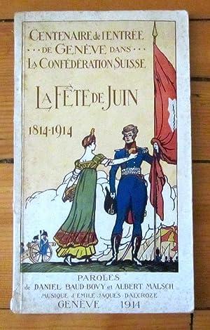 Centenaire de l'entrée de Geneve dans la: Daniel Baud-Bovy, Albert
