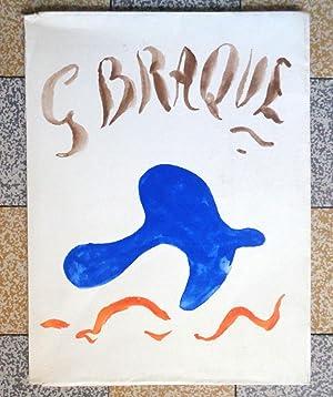 Georges Braque, oeuvre graphique original. Hommage de: René Char, Georges