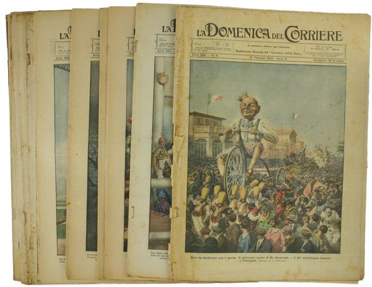 LA DOMENICA DEL CORRIERE. Anno XXX - 1928. Collezione di 28 numeri.: