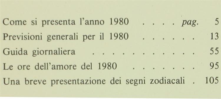 Calendario Anno 1980.Calendario Astrologico Guida Giornaliera