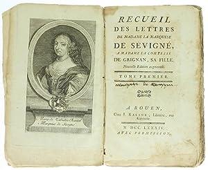 RECUEIL DES LETTRES DE MADAME LA MARQUISE: Sévigné (Marquise de).