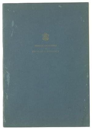 I MESSAGGI DI GUERRA DI FRANKLIN D.ROOSEVELT: Roosevelt Franklin D.