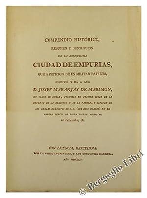 COMPENDIO HISTORICO, RESUMEN Y DESCRIPCION DE LA ANTIQUISIMA CIUDAD DE EMPURIAS.:: Maranjas de ...