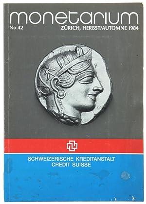 MONETARIUM - Zurich - Liste 42. Herbst/Automne: Schweizerische Kreditanstalt /