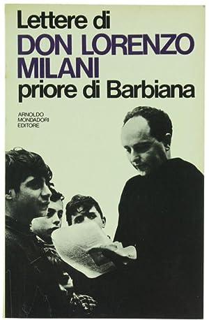 LETTERE DI DON LORENZO MILANI PRIORE DI: Milani don Lorenzo.