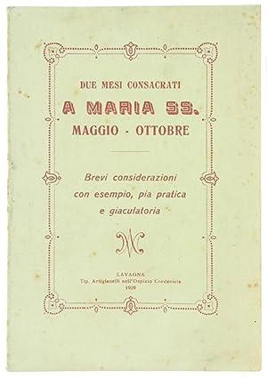DUE MESI CONSACRATI A MARIA SS. Maggio