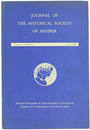 JOURNAL OF THE HISTORICAL SOCIETY OF NIGERIA.