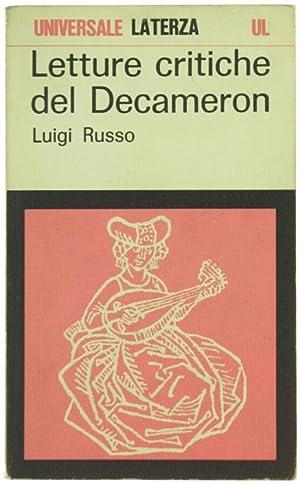 LETTURE CRITICHE DEL DECAMERON.: Russo Luigi.