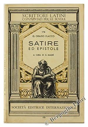 SATIRE ED EPISTOLE. A cura di D.Magrì.: Orazio Flacco Q.