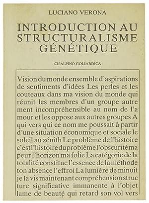 INTRODUCTION AU STRUCTURALISME GENETIQUE.: Verona Luciano.