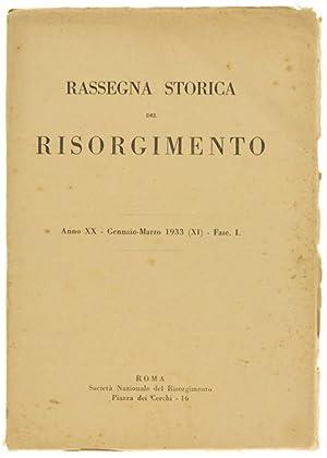 RASSEGNA STORICA DEL RISORGIMENTO. Anno XXV -: Autori vari.