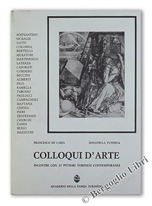COLLOQUI D'ARTE. Incontri con 25 pittori torinesi: De Caria Francesco,