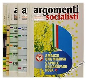 ARGOMENTI SOCIALISTI - Annata 1992 completa.: P.S.I.