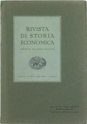 RIVISTA DI STORIA ECONOMICA - Anno IV.: Einaudi Luigi (direttore).
