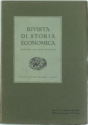 RIVISTA DI STORIA ECONOMICA - Anno I.: Einaudi Luigi (direttore).