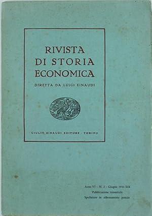 RIVISTA DI STORIA ECONOMICA - Anno VI.: Einaudi Luigi (direttore).