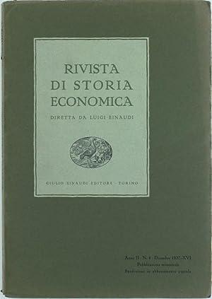 RIVISTA DI STORIA ECONOMICA - Anno II.: Einaudi Luigi (direttore).