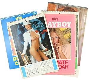 "QUATTRO CALENDARI PLAYBOY ""PLAYMATE CALENDAR"" 1977 - 1978 - 1979 - 1980.:"