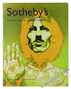 ROCK'N'ROLL & FILM MEMORABILIA.: Sotheby's.