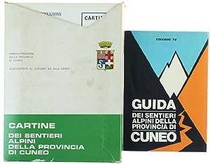 CARTINE DEI SENTIERI ALPINI DELLA PROVINCIA DI CUNEO.: