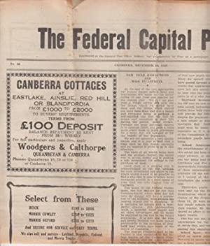 The first Canberra newspaper). Nos. 6, 11, & 12.: FEDERAL CAPITAL PIONEER, The.