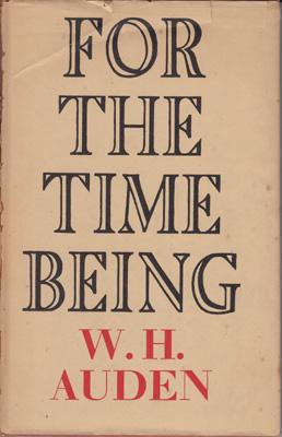 For the Time Being.: AUDEN W.H.