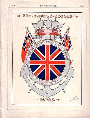 Sea Cadets Record. Vol. 1: No. 1.: MOSMAN BRANCH - NAVY LEAGUE MAGAZINE:
