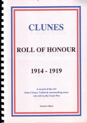 Clunes Roll of Honour 1914-1919.: BURN, G.L.
