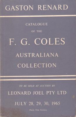 Catalogue of the F.G. Coles Australiana Collection: COLES F.G.