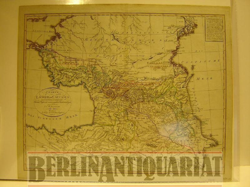 Charte der Laender am Caucasus nach den vorhandenen Charten, Reisen und astronomischen