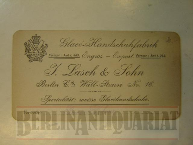 Visitenkarte Glacé Handschuhfabrik