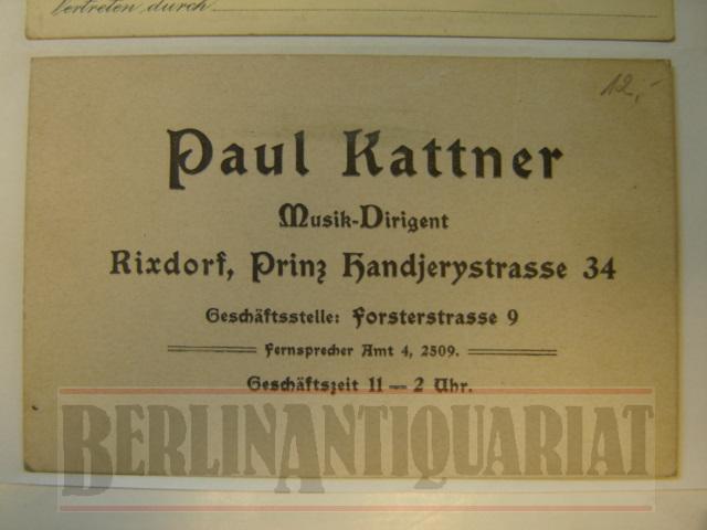 Visitenkarte Musik Dirigent