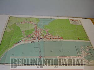 Ostseebad Binz, Insel Rügen. Maßstab 1 : 8. 000. Flächenkolorit. Mit 1 Nebenkarte.:...