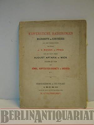 Kupferstiche, Radierungen, Holzschnitte und Kunstbücher aus den Sammlungen des Herrn J. V. ...