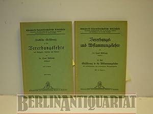 Praktische Einführung in die Vererbungslehre mit Aufgaben, Tabellen und Kurven (I) 1934 . ...