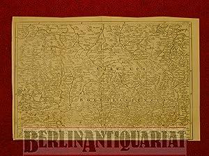 Karte der Region um Zittau. Gestochen von J. Gibson.: Schlesien: