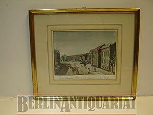 Das Königliche Palais mit der Aussicht nach dem Schloß. Kolorierter Kupferstich von ...