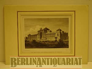 Das Deutsche Reichstagsgebäude in Berlin nach seiner Vollendung. Stahlstich von J. Ubmach nach...