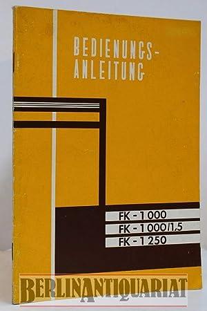 FK - 1000. FK - 1000/1,5. FK: Ford-Werke AG Köln: