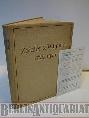 Zeidler & Wimmel. Steinbruch- und Steinmetzbetriebe Berlin. 1776-1926.