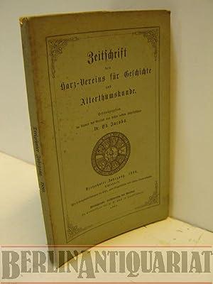 Zeitschrift des Harz-vereins für Geschichte und Altertumskunde. Dreizehnter Jahrgang. 13. 1880...