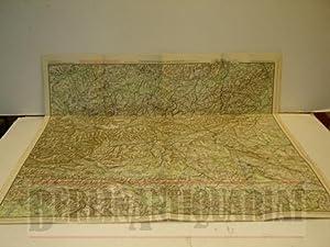 Übersichts-Karte der Ostalpen. Mit Schutzhütten. Maßstab 1: 500 000. Östliches...