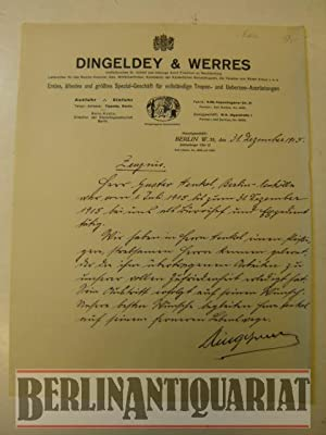 Zeugnis von Herrn Gustav Henkel im Spezial-Geschäft für vollständige Tropen- und &...