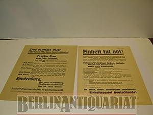 Einheit tut not!: SPD-Flugblatt.-