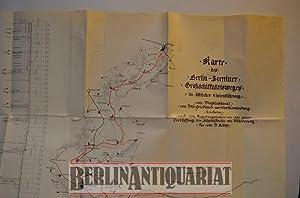 Karte des Berlin - Stettiner Großschiffahrtsweges in öffentlicher Linienführung. ...