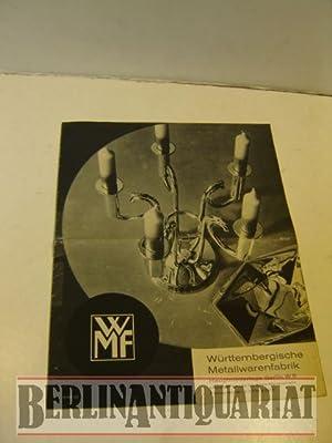 Katalog mit Preisangaben. WMF 101.: Württembergische Metallwarenfabrik:
